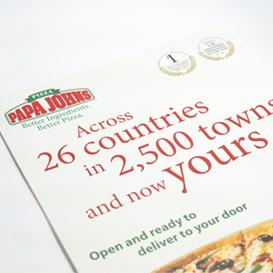 Papa Johns Leaflet